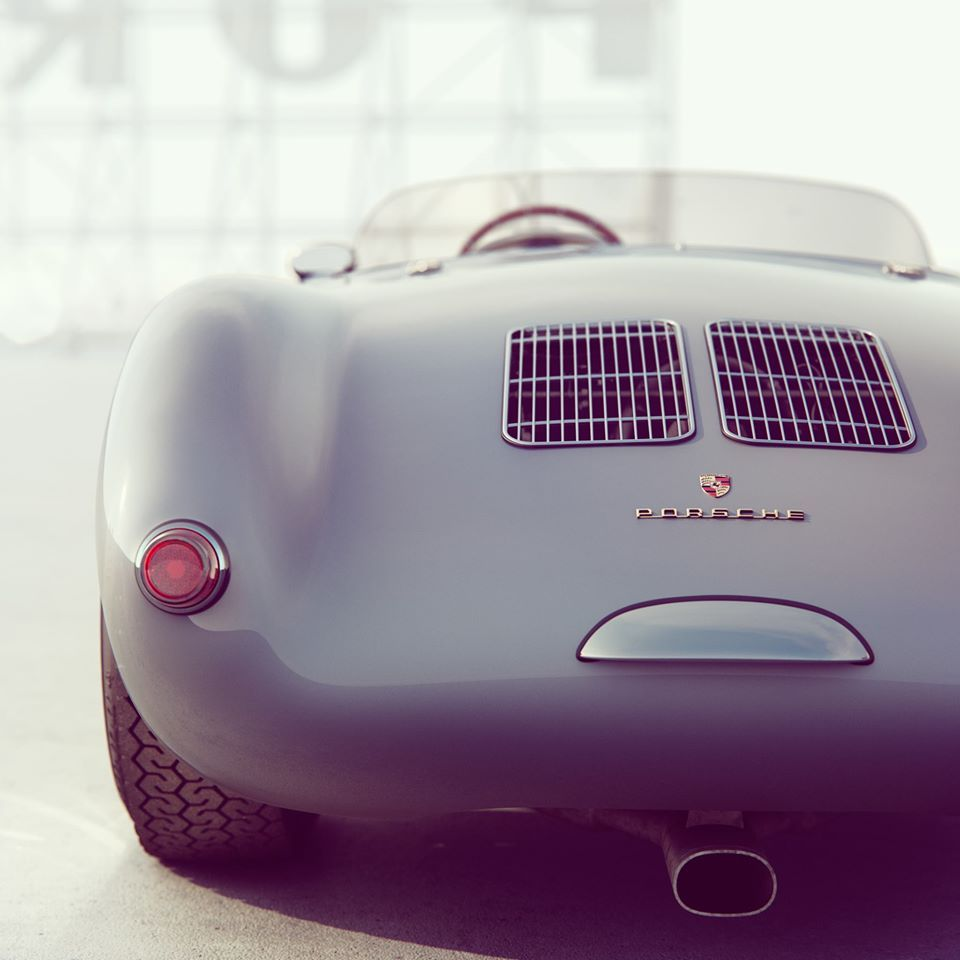 Autohaus Residence And Car Collectors Garage In Central Texas: Rhubarbes:Porsche 550 Spyder / 3D Art By Additive Studios