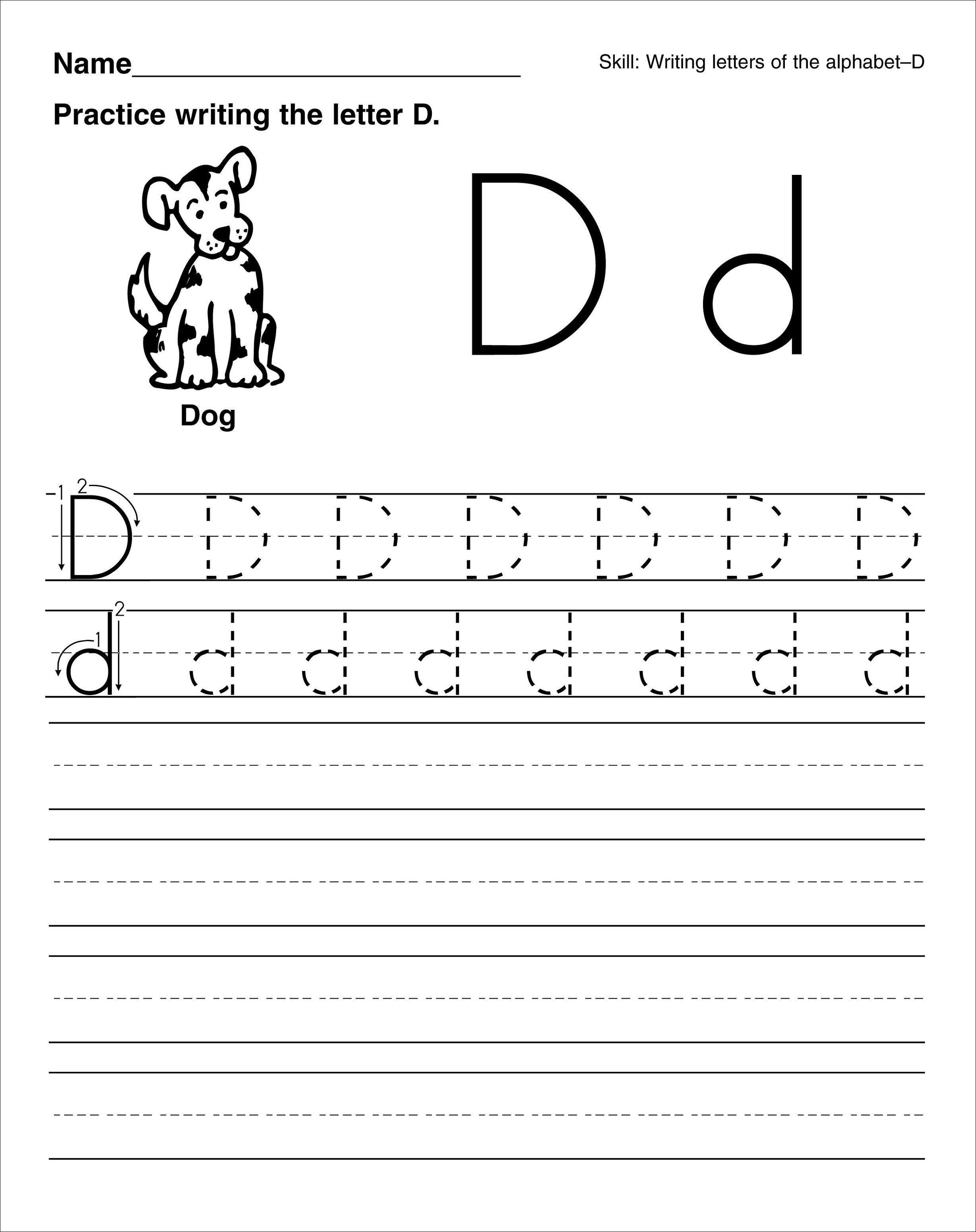 Nice Printable Tracing Letters For Kindergarten That You