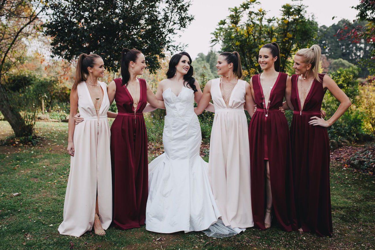Scandinavian Gothic Wedding By Vanilla Photography Gothic Wedding Red Bridesmaid Dresses Bridesmaid Dresses