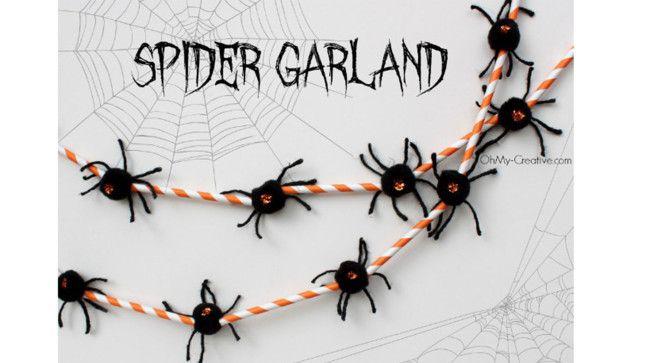 Halloween inspiration 23 DIY decorations and props for your - spiders for halloween decorations