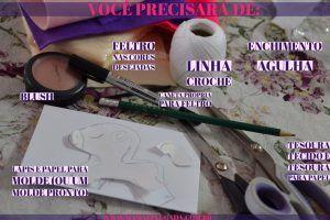 DIY Unicórnio em Feltro para decorar festa infantil_materiais