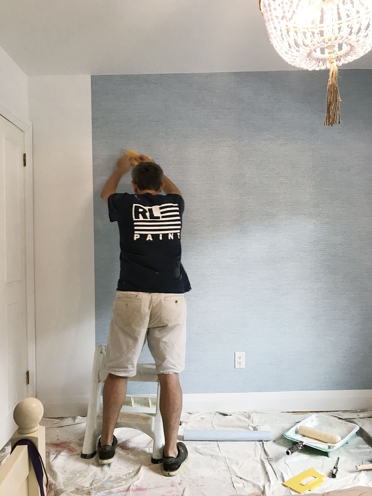Rambling Renovators Paste The Wall Wallpaper Tips Wall Wallpaper Wallpapering Tips Grasscloth Wallpaper