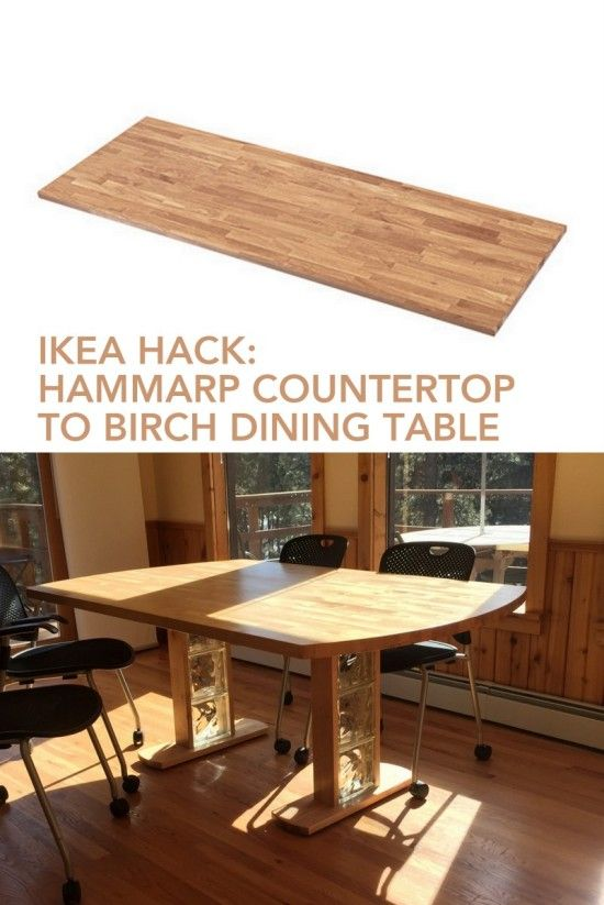 Birch Dining Table From Hammarp Countertop Birch Dining Table Dining Table Diy Dining Table