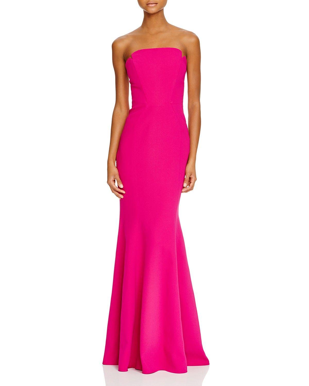 Jill Jill Stuart Strapless Crepe Gown Women Dresses Evening Formal Gowns Bloomingdale S Pink Formal Dresses Gowns Pink Long Dress [ 1500 x 1200 Pixel ]