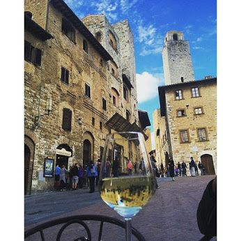 San Gimignano by the glass.