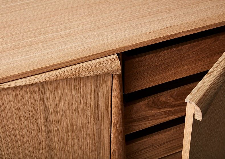 Sideboard In American Oak With Drawers And Cupboards. Design