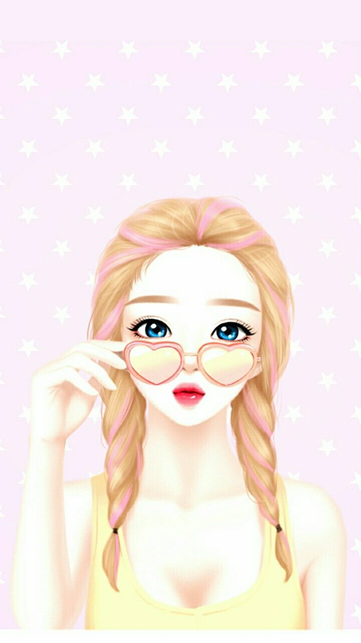 Enakei enakei lovely girls anime art girl lovely girl - Cartoon girl wallpaper ...