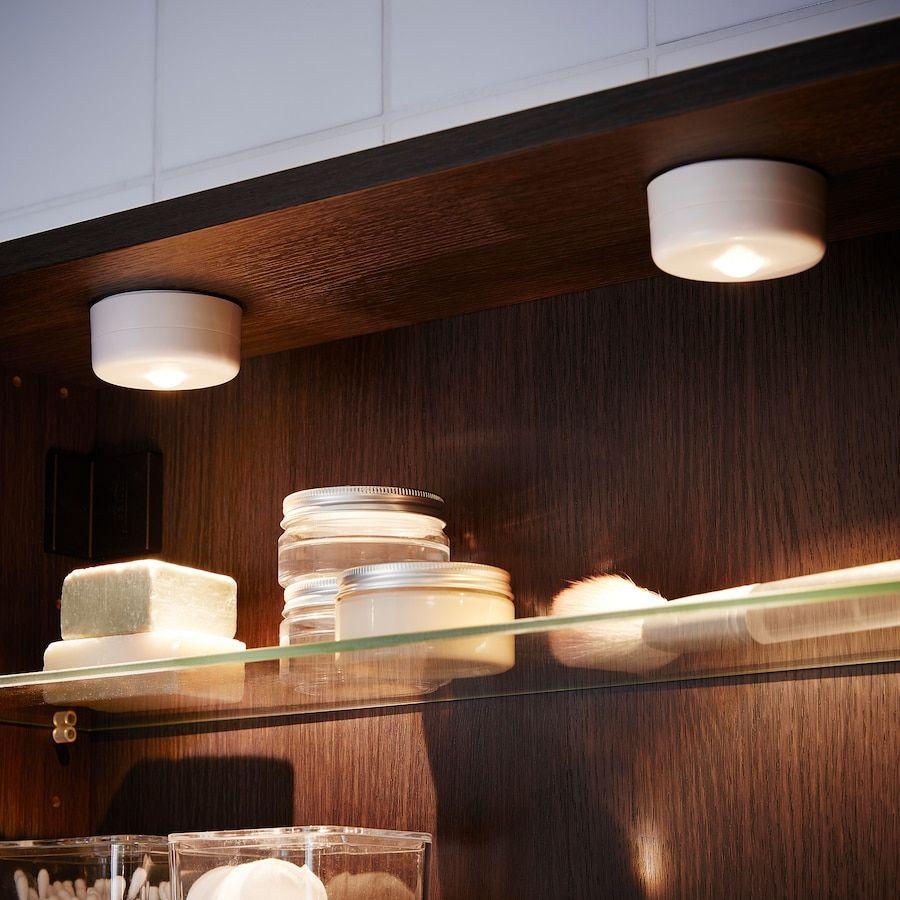 Stotta Led Spot Mit Klemme Batteriebetrieben Weiss Ikea Deutschland Led Spots Led Led Leuchtmittel