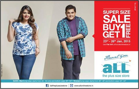 2ee834d7bbb A little larger - ALL - The plus size store   Diamond Plaza Super size SALE  from 23rd - 26th Jan 2015 Buy 1 Get 1 FREE.