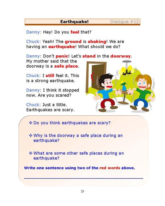 Esl Dialogues Earthquake Low Intermediate Learn English Words School Volunteer Teaching English