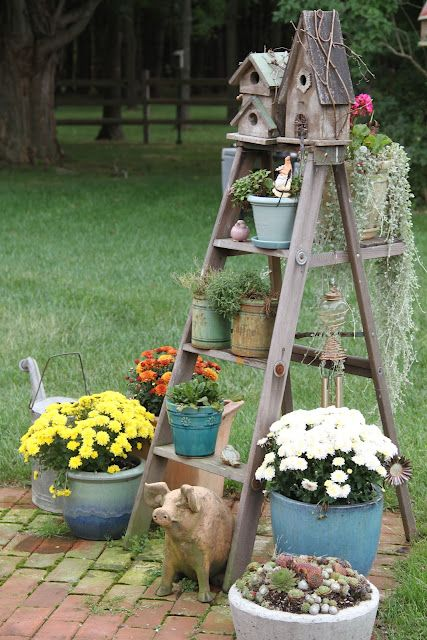 This Old House 2 Once Upon A Tide Garden Ladder Garden Yard Ideas Backyard Landscaping