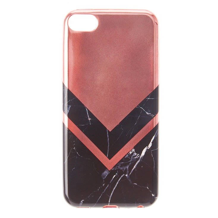 new concept df719 86d58 Claire's Black Marble & Rose Gold iPod® Touch 5/6 Case | Products in ...