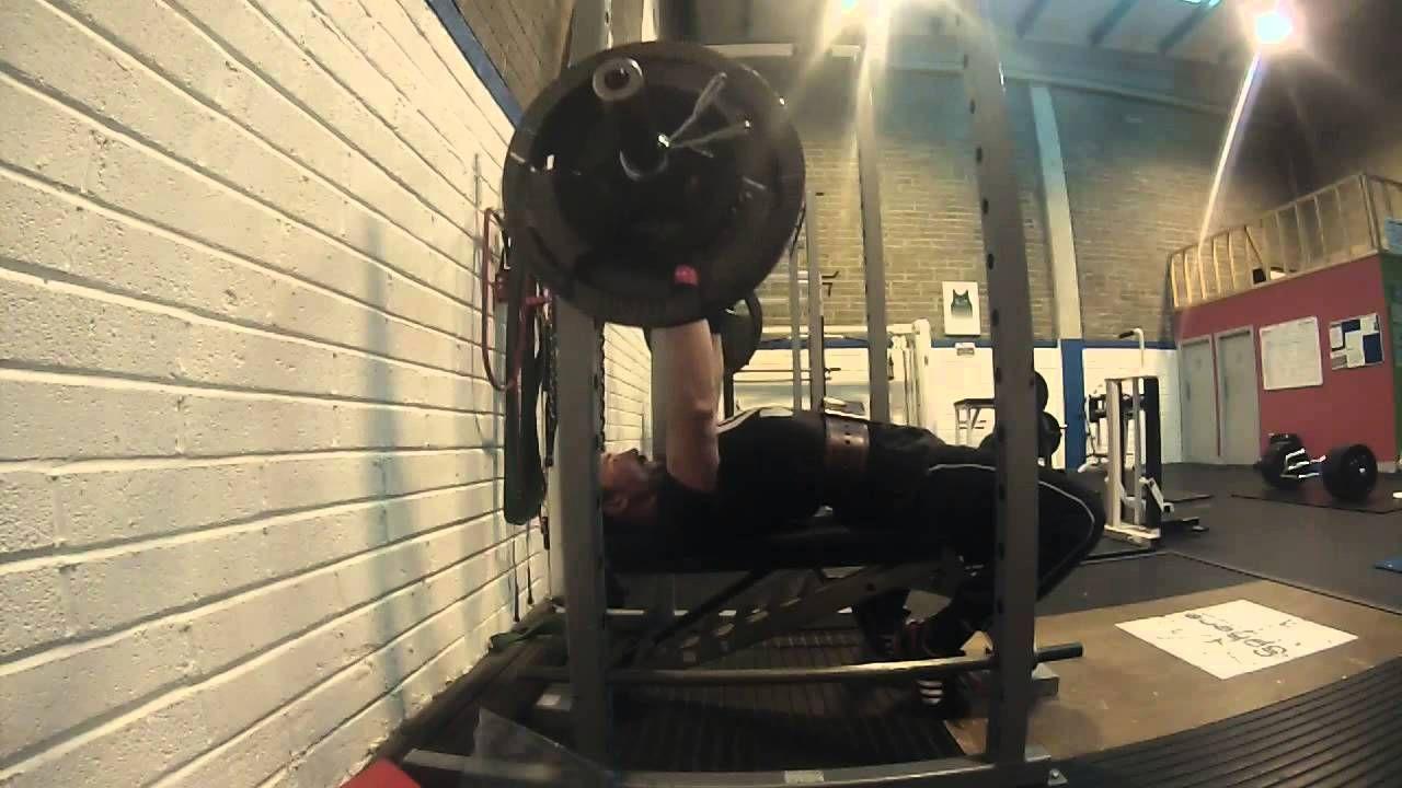 First Time Use Mark Bell Slingshot 110kg Bench Press Bench Press Mark Bell Slingshot Squats Video