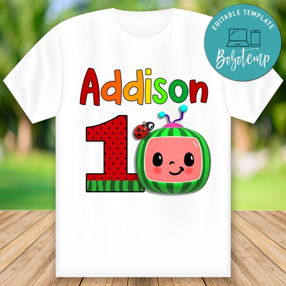 cocomelon birthday outfit for boy personalized with child/'s name