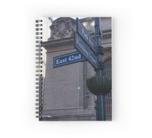 New York street sign spiral notebook. Travel diary perhaps?