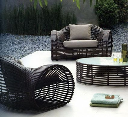Wicker furniture for the porch, balcony, back yard or just a chill - designer gartenmobel kenneth cobonpue