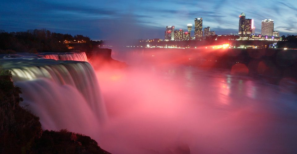 Right On The Edge Of Us Side Niagara Falls