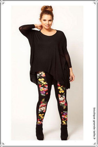 Leggings à fleurs femmes fortes un look Desigual à petit prix et grande  taille. 34f541333d4