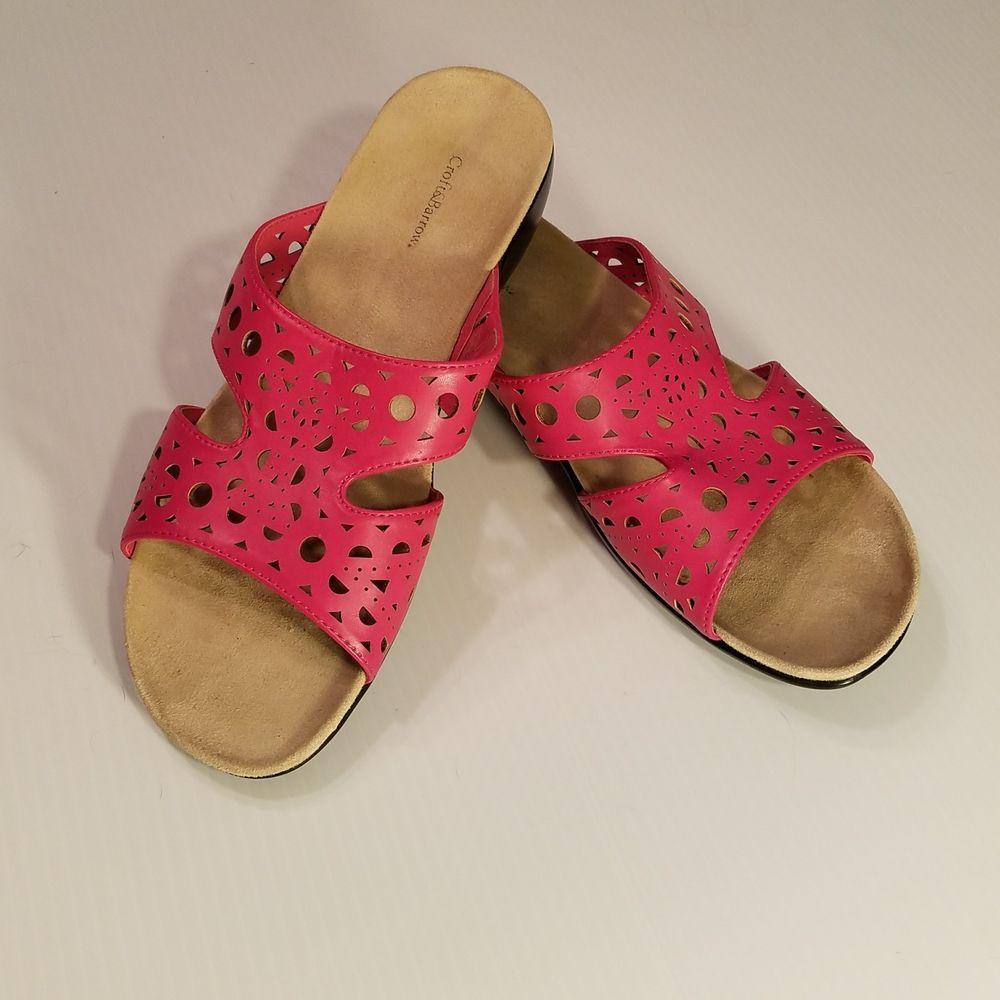 060d428278c37 CROFT & BARROW FARIS Pink Fuchsia Womens Shoes Size 9 Flats Slides ...