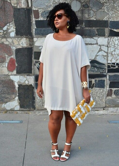 Simple White Dress Plus Size Pinterest Curvy Clothes And Curves