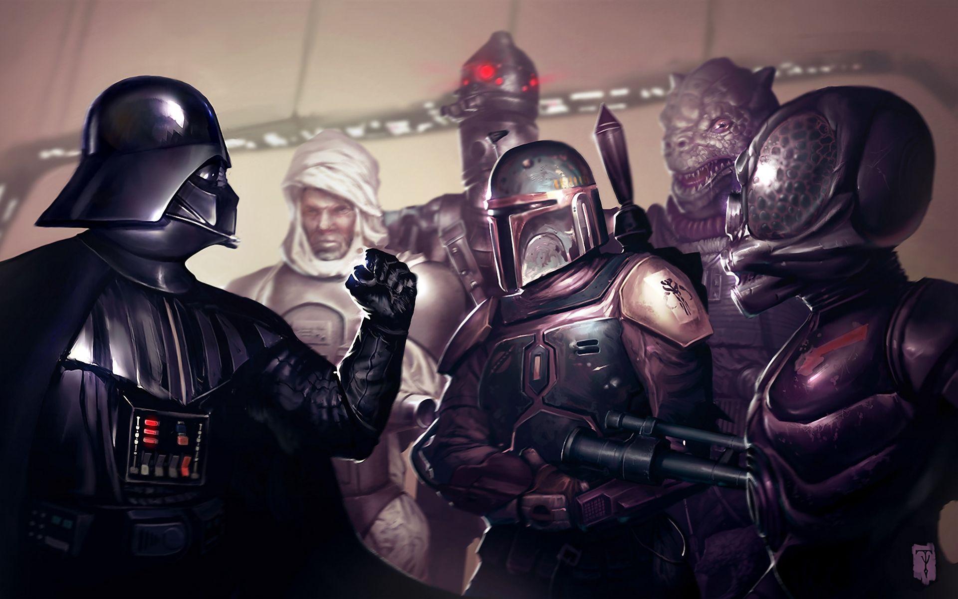 Sci Fi Star Wars Bossk Darth Vader Boba Fett Bounty Hunter