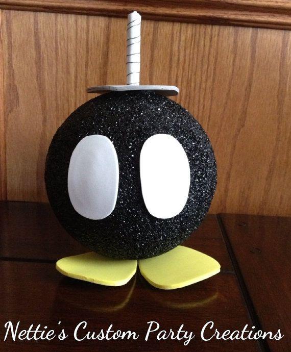 Kids Party Ideas Video Game DIY Super Mario Bros Styrofoam Bomb