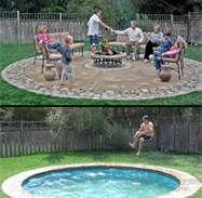 hidden pool - turns into patio