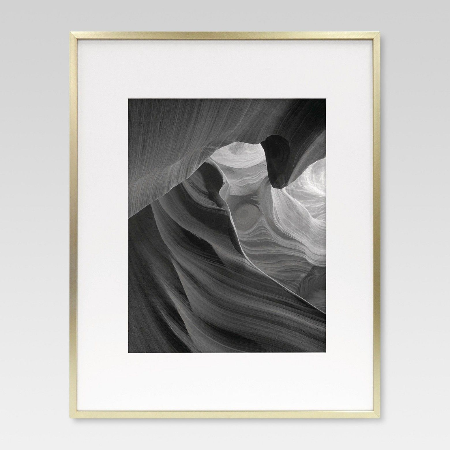 Project 62 Metal Frame - Brass - Matted Photo | Metal photo frames ...