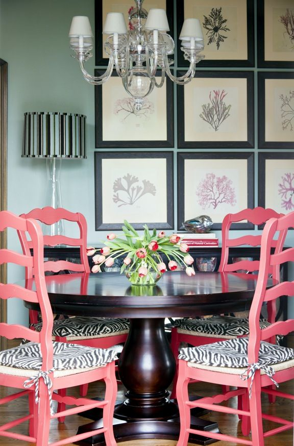 Designer Tobi Fairley uses bold colors, bright patterns and a liberal dose of ingenuity to turn a traditional house   into a lively home.