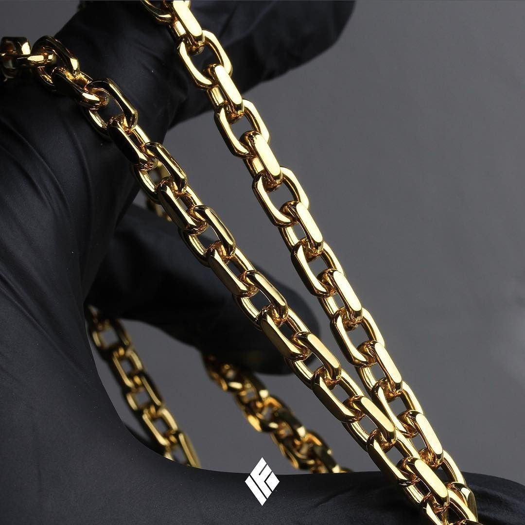 7aa41b84c Solid Gold Hermes Link Chain. Now available on www.IFANDCO.com #HermesLink  #CustomJewelry #IFANDCO