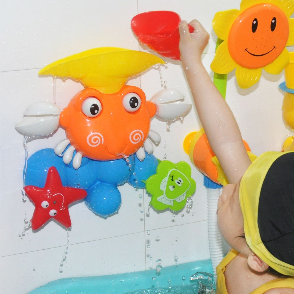 Baby Funny Water Game Bath Toy Gift Cute Crab Rotating Starfish And Fish Summer Children Bathing Toys For In The Bathroom D50 Bath Toys Funny Babies Toys Gift