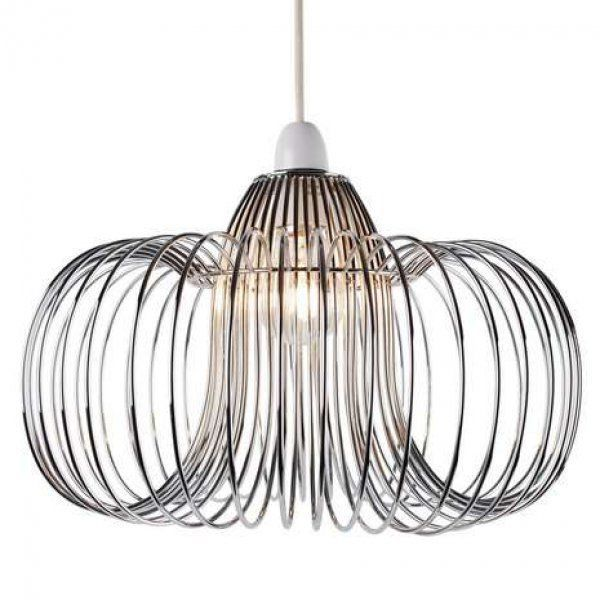 Modern chrome wire lightshade light pendant new chrome pendants modern chrome wire lightshade light pendant new greentooth Image collections