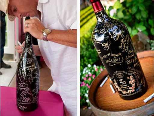 What A Great Idea Wedding Guest Book You Will Actually Look At And Use Let Your Sign Large Bottle Of Wine With Gl Marker Leave Note