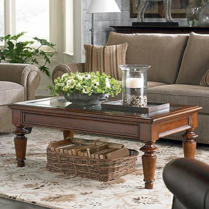54 Classic Glass Coffee Table Design Ideas To Makes Living Room Looks Elegant Table Decor Living Room Coffee Table Decor Living Room Center Table Living Room