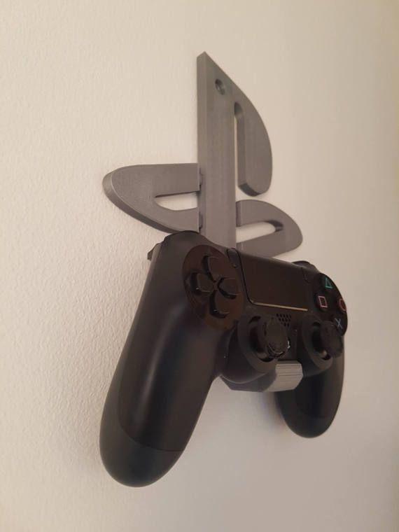 Playstation 4 Dualshock 4 Controller Wandhalterung Halter Psn Logo Game Room Decor Playstation Room Game Room Design