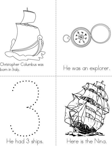 Columbus Day Mini Book Mini Book Christopher Columbus Activities Mini Books Christopher Columbus Kindergarten