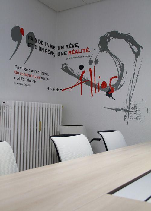 Designmuralentreprisesiegebureau Home Sweet Home Pinterest - Siege salon design