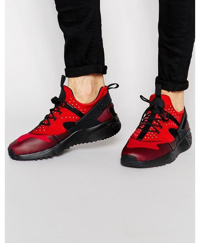 Nike Air Huarache Mens Trainers In Utility Gym Red Black | Nike ...