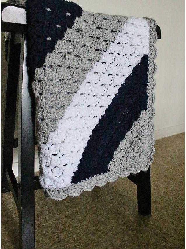 Corner To Corner Haken Patroon.Corner To Corner Baby Blanket Pattern Crochet Free Haken