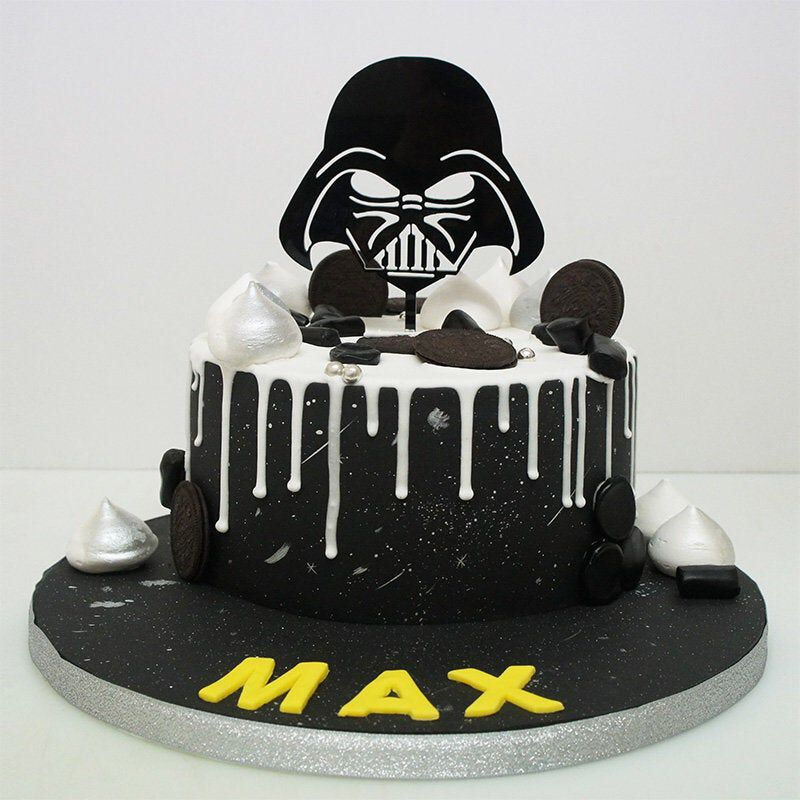 Star wars darth vader acrylic cake topper birthday