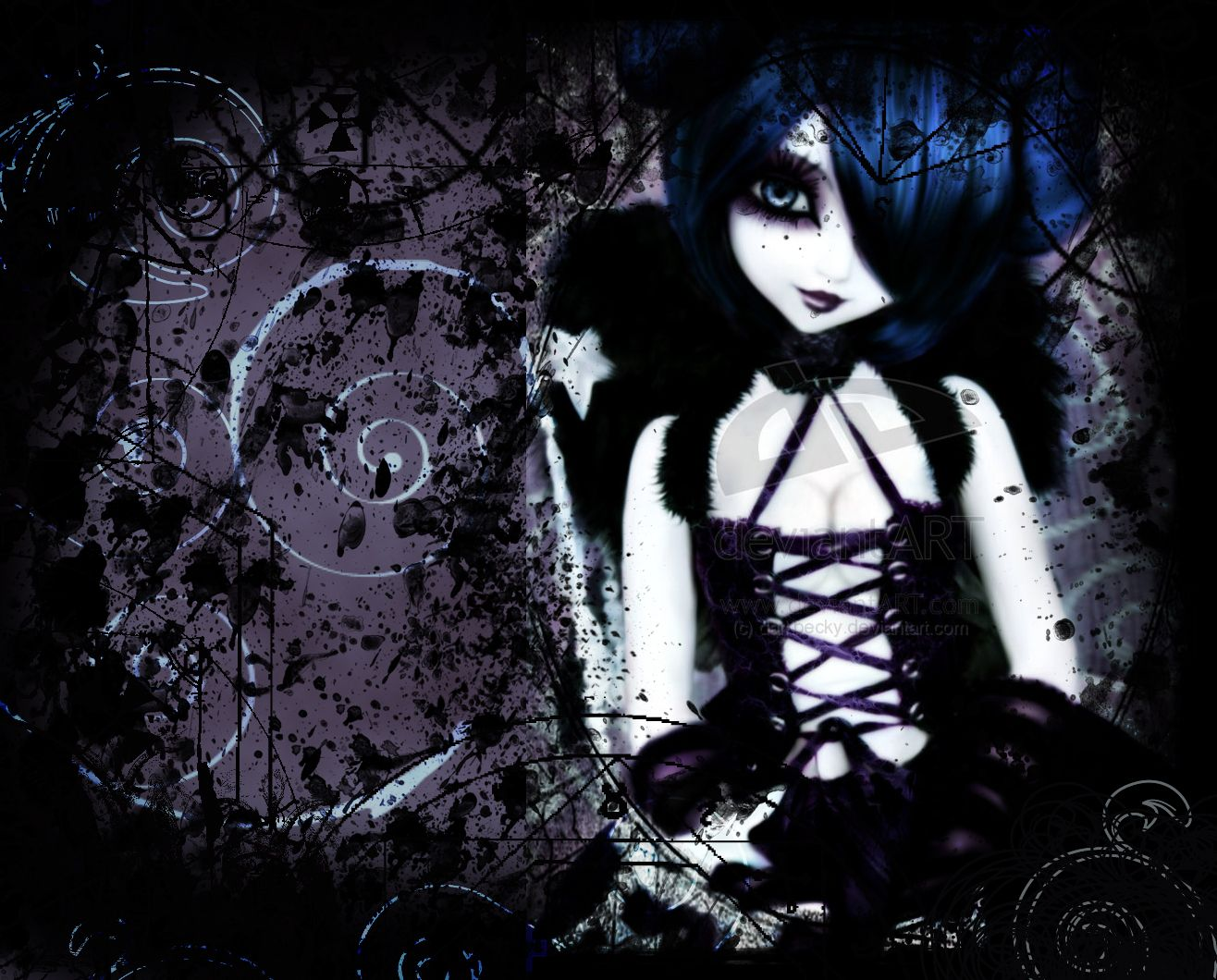 Anime Photo Gothic Anime Gothic Anime Goth Wallpaper Emo Wallpaper