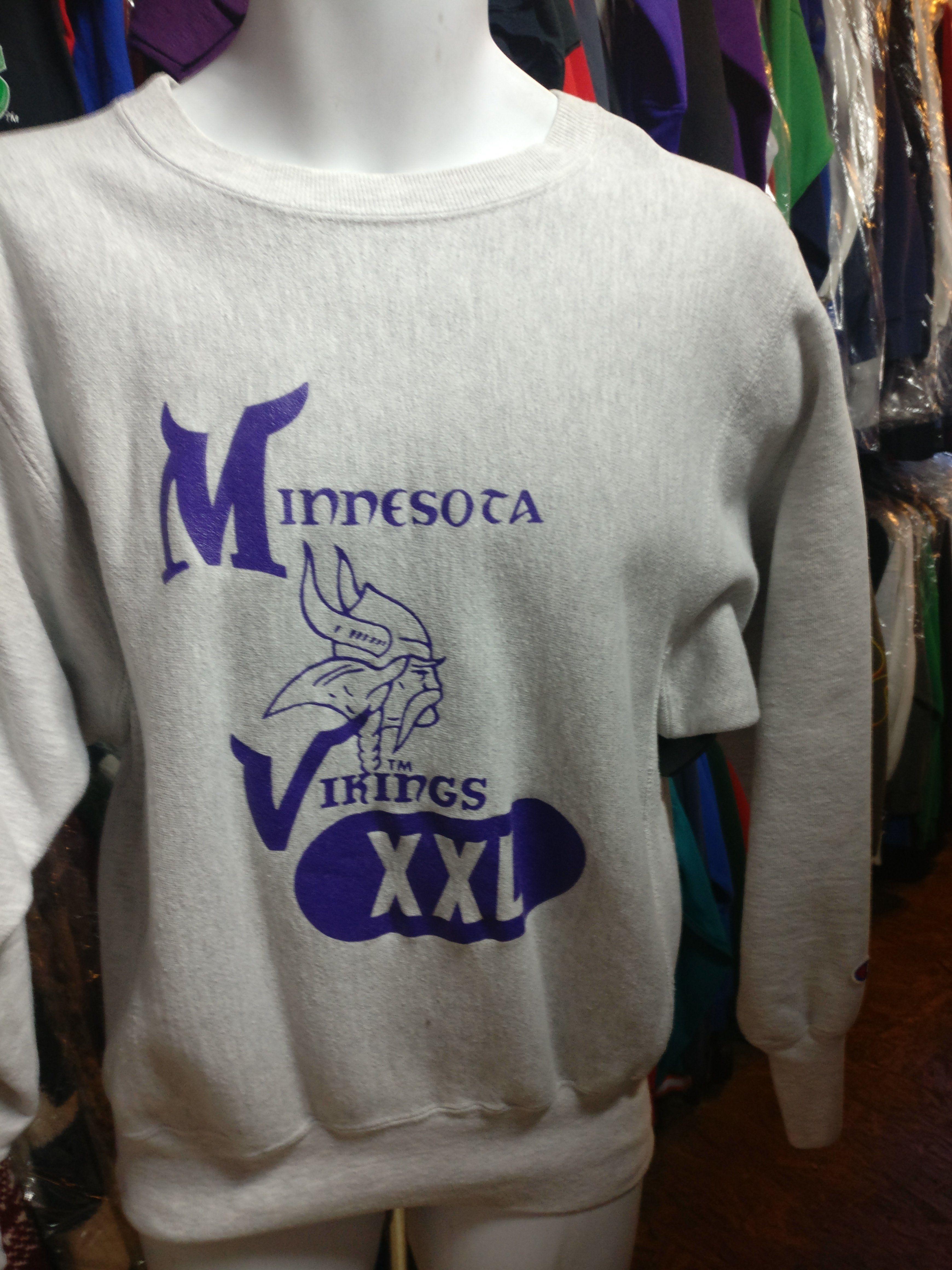 size 40 efd85 7e3ad Vintage 80s MINNESOTA VIKINGS Champion Reverse Weave NFL ...