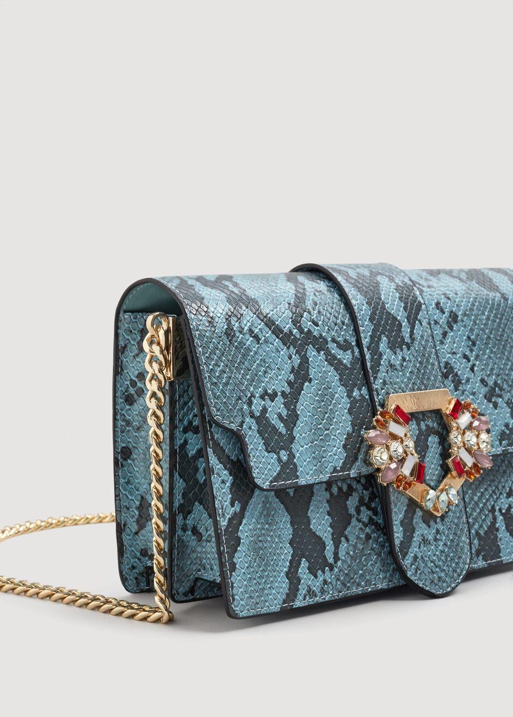 Τσάντα φίδι κρύσταλλα Γυναίκα | Schlangenleder, Mango