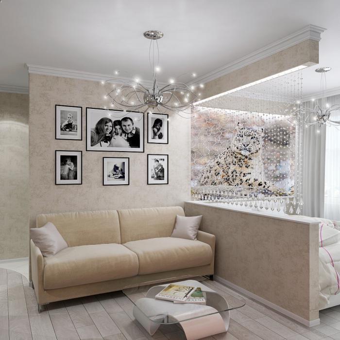 дизайн комнаты 19 кв.м спальни-гостиной фото