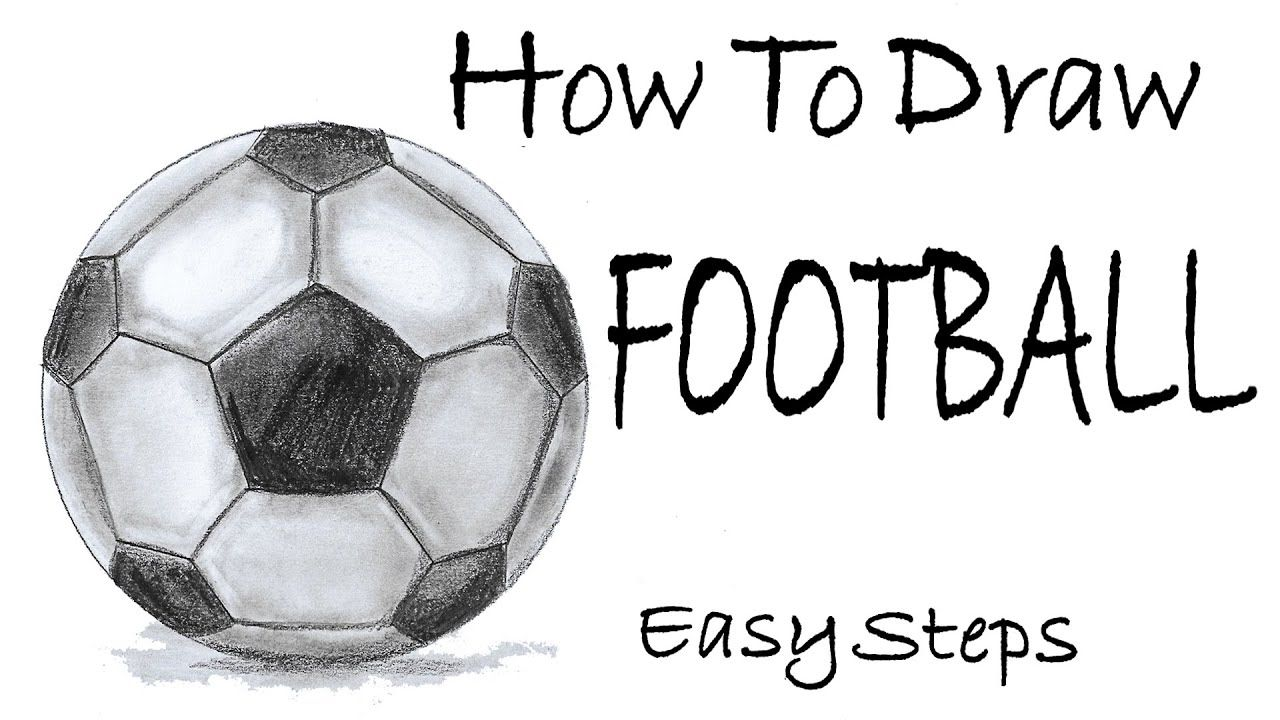 How To Draw A Football Pencil Sketch Tutorial Step By Step Drawing Football Drawing Pencil Sketch Tutorial Drawing Tutorial Easy