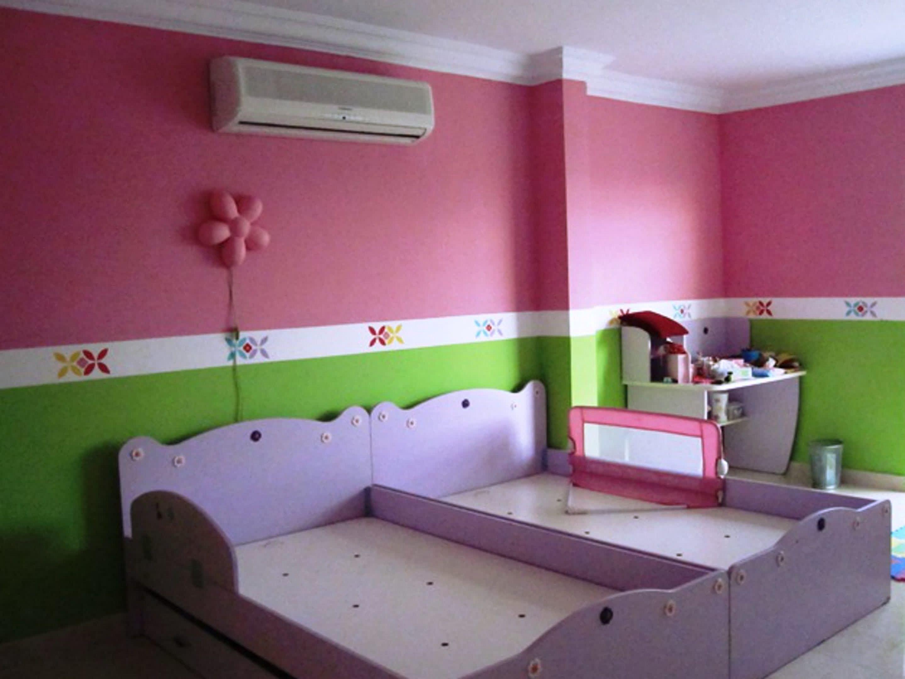 mädchen schlafzimmer malen ideen weiß grauen farben