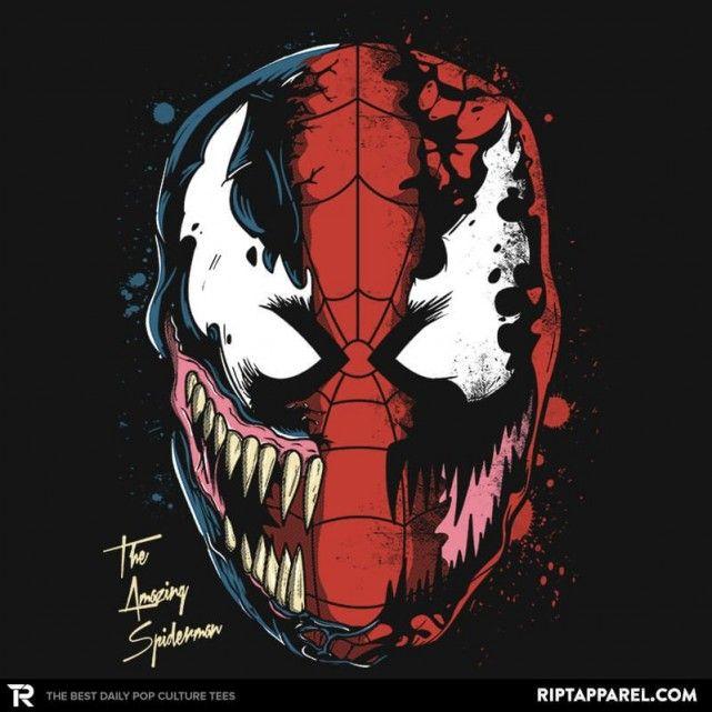 Daft Spider - Spider-Man/Venom T-Shirt - The Shirt List. Super Hero ...
