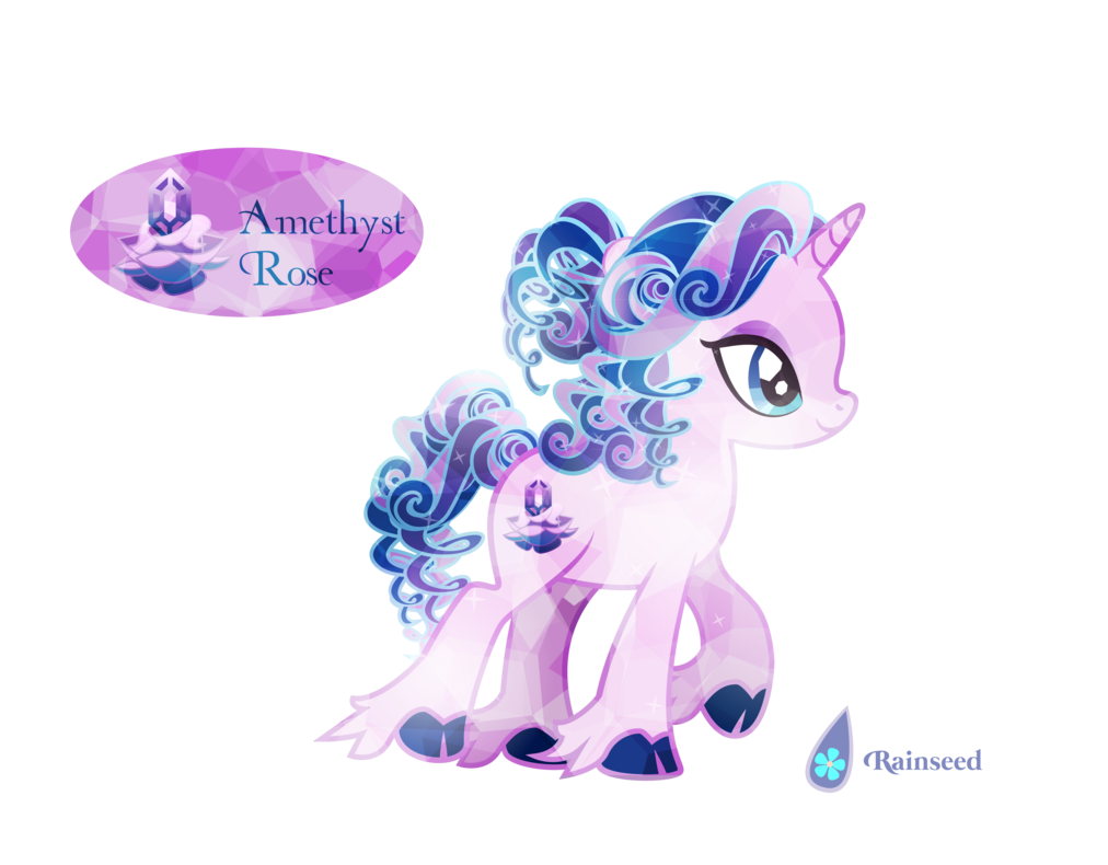 -Closed- Crystal Pony Auction: Amethyst Rose by Rainseed on DeviantArt
