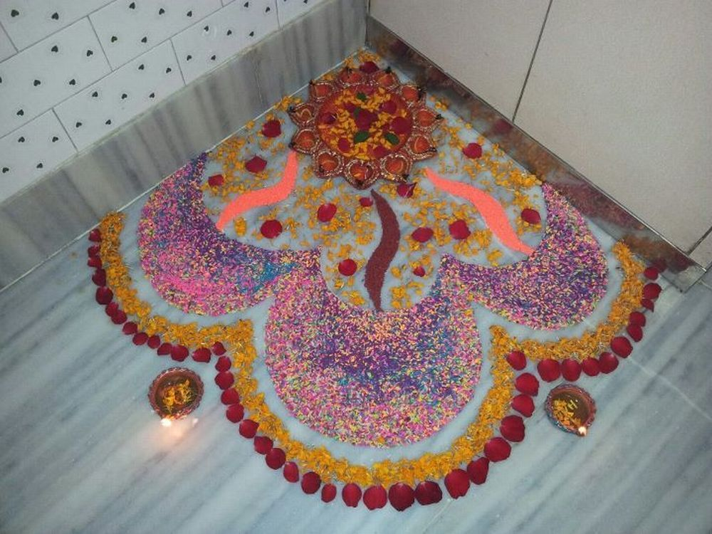 rangoli designs with flower border