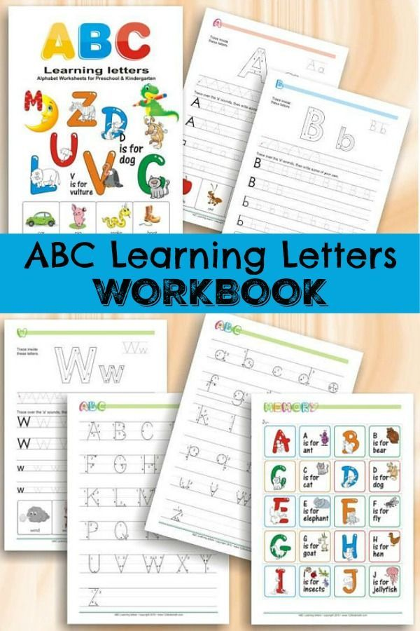ABC Learning Letters Workbook for Preschoolers Printable #abc ...